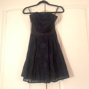Bebe Strapless party dress